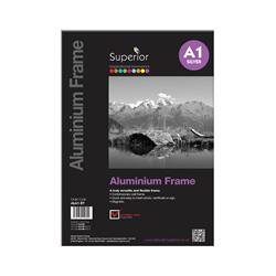 Photo Frame Clip In Aluminium with Clear Perspex Front A1