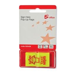 5 Star Office Sign Here Index Flags Tab With Red Arrow 46x25mm 10 Wallets of 50 Flags [500 Flags]