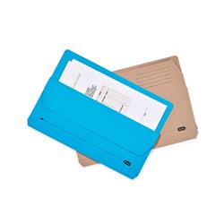Elba Open Top Wallet Large Gussetted Capacity 30mm Foolscap Blue Ref 100090265 - Pack 50