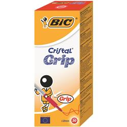 Bic Cristal Grip Ball Pen Red Ref 802803 - Pack 20