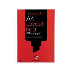 Goldline Layout Pad Bank Paper Acid-free 50gsm 80 Sheets A4 Ref GPL1A4Z [Pack 5]
