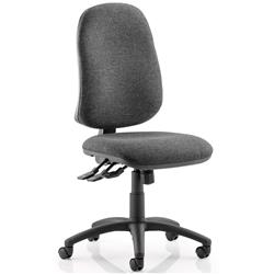 Trexus III Lever Task Operator Chair Charcoal Fabric Without Arms Ref OP000040