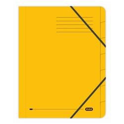 Elba Boston Part File Pressboard Elasticated 7-Part Foolscap Yellow Ref 100090310 [Pack 5]