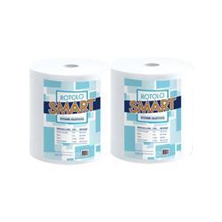 Asciugatutto pura cellulosa Lucart - 2 veli - 800 strappi - conf. 2