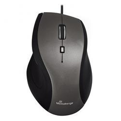 Mouse con filo Media Range - ottico - USB - 5 tasti - nero-grigio
