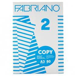 Carta A3 Fabriano Copy 2 - per stampanti e fotocopiatrici - bianca - 80g/mq