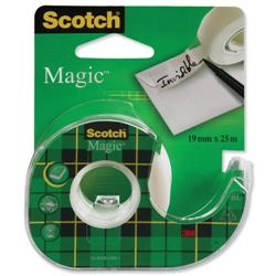 Scotch Magic Tape Matt Adhesive Dispenser 19mmx25m Ref 8-1925D