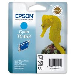 Epson T0482 Inkjet Cartridge Seahorse Page Life 400pp Cyan Ref C13T04824010