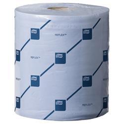 Tork Reflex Wiper Roll 2-Ply 429 Sheets of 194x150mm Blue Ref E02221 [Pack 6]