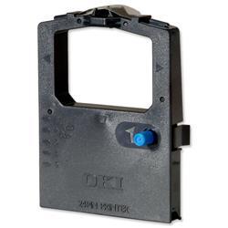 OKI Black Nylon Fabric Ribbon Cassette for ML-590 & ML-591 Ref 09002316