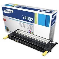 Samsung CLT-Y4092S Yellow Toner Cartridge for CLP-315/CLP-3175 Series Ref CLT-Y4092S/ELS