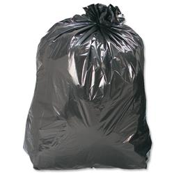 5 Star Facilities Compactor Bin Liners 110 Litre Capacity W430xD340xH950mm 30 Micron Black [Pack 200]