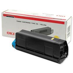 OKI Yellow Toner Cartridge for C5100/C5200/C5300/C5400 Ref 42127405