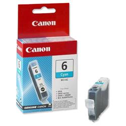 Canon BCI-6C Inkjet Cartridge Page Life 280pp Cyan Ref 4706A002