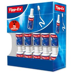 Tipp-Ex Rapid Correction Fluid Fast-drying 20ml White Ref 895950 [Pack 15 + 5 FREE]