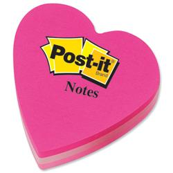 Post it Heart Shaped Notes Pad of 225 Sheets Pink Tones Ref 2007H