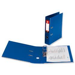 5 Star Office Lever Arch File Polypropylene Spine 70mm Foolscap Royal Blue [Pack 10]