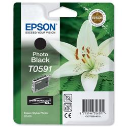 Epson T0591 Inkjet Cartridge Lilly Photo Black Ref C13T05914010