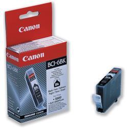 Canon BCI-6BK Inkjet Cartridge Page Life 280pp Black Ref 4705A002