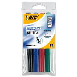 Bic Velleda 1741 Whiteboard Marker Bullet Tip Line Width 2mm Assorted Ref 1199001744 - Wallet 4