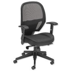 Influx Amaze Chair Synchronous Mesh Seat W520xD520xH470-600mm Black Ref 11186-02Blk