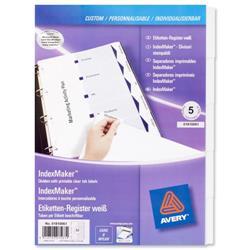 Avery IndexMaker Divider Set Punched 5-Part Ref 01810061.UK