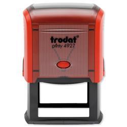 Trodat Printy TVC4927 Custom Stamp Self-Inking Up to 8 lines 59x38mm Ref 156322