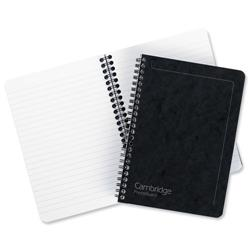 Notebook Sidebound Ruled 90gsm 120 Pages A5 Black [Pack 10]