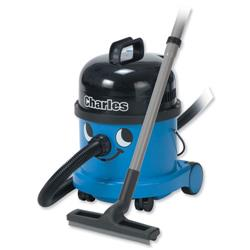 Numatic Charles Wet and Dry Vacuum Cleaner 1200W 15L Dry 9L Wet 7.1Kg W355xD355xH455mm Blue Ref A10X