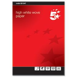 5 Star Elite Premium Business Paper Wove Finish Ream-Wrapped 100gsm A4 High White [500 Sheets]