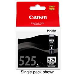 Canon PGI-525 Inkjet Cartridges Total Page Life 648pp Black Ref 4529B006 - Twin Pack