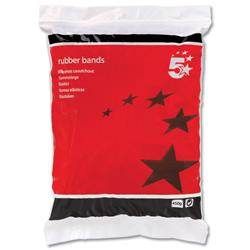 5 Star Office Rubber Bands No.33 Each 89x3mm Approx 665 Bands [Bag 0.454kg]