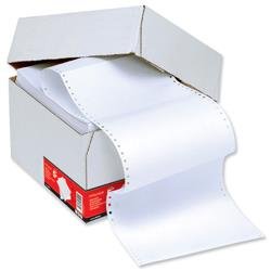 5 Star Office Listing Paper 1-Part Microperforated 60gsm 11inchx241mm Plain [2000 Sheets]