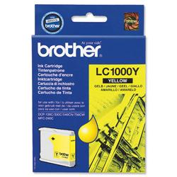 Brother LC1000Y Yellow Inkjet Cartridge Ref LC-1000Y