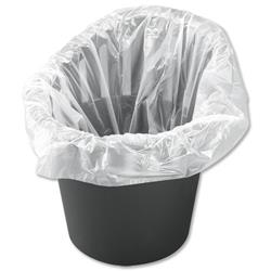 5 Star Facilities Office Bin Liners 40 Litre Capacity W305xD300xH590 7.5 Micron White [Pack 1000]