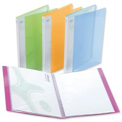 Rexel Ice Display Book Polypropylene 20 Pockets A4 Assorted Translucent Covers Ref 2102038 - Pack 10