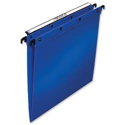 Elba Ultimate Suspension File Polypropylene V-Base Foolscap Blue Ref 100330370 [Pack 25]