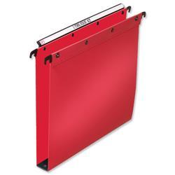 Elba Ultimate Suspension File Polypropylene 30mm Foolscap Red Ref 100330374 [Pack 25]