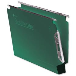 Rexel Crystalfile Extra Lateral File Polypropylene W330mm 30mm Base Green Ref 300122 [Pack 25]