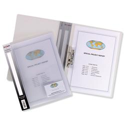 Concord Clamp Binder Polypropylene 75 micron 100 Sheet Capacity A4 Clear Ref 7103-PFL [Pack 10]