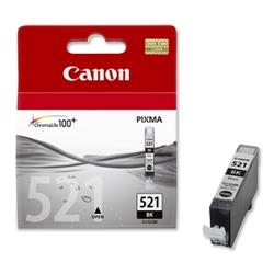 Canon CLI-521BK Black Inkjet Cartridge for Pixma iP3600/iP4600/MP540/MP630 Ref 2933B001AA