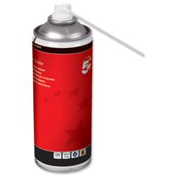 5 Star Office Spray Duster Can HFC Free Compressed Gas Flammable 400ml [Pack 4]