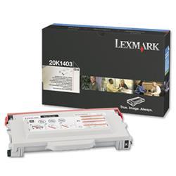 Lexmark Laser Toner Cartridge High Yield Page Life 6600pp Black Ref 20K1403