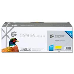 5 Star Office Remanufactured Laser Toner Cartridge 1300pp Yellow [HP No. 128A CE322A Alternative]