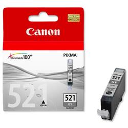 Canon CLI-521GY Grey Inkjet Cartridge for MP980 Ref 2937B001AA