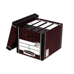 Bankers Box Premium Storage Box (Presto) Tall Woodgrain FSC Ref 7260502 [Pack 10]