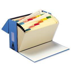 5 Star Office Expanding Box File 19 Pockets A-Z Foolscap Blue