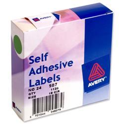 Avery 24-507 Label Dispenser 19mm diameter Green Ref 24-507 - 1120 Labels