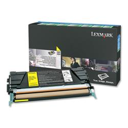 Lexmark Laser Toner Cartridge Return Program Page Life 3000pp Yellow Ref C5220YS