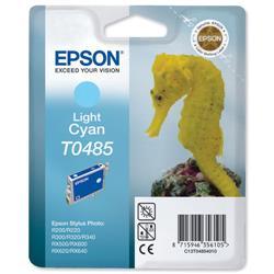 Epson T0485 Inkjet Cartridge Seahorse Page Life 400pp Light Cyan Ref C13T04854010